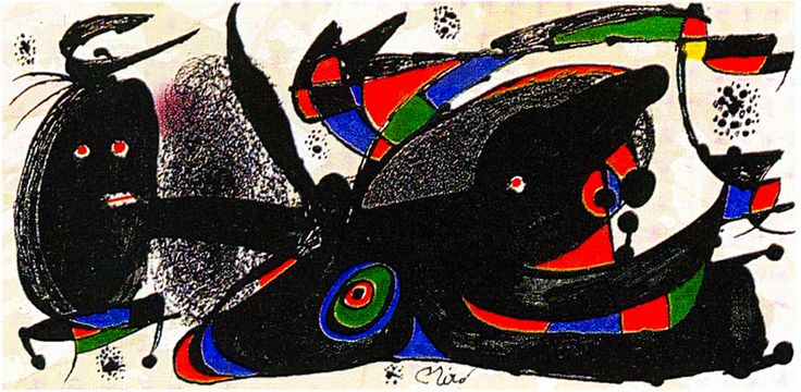 Joan Miro Print - Miro Sculptors - England