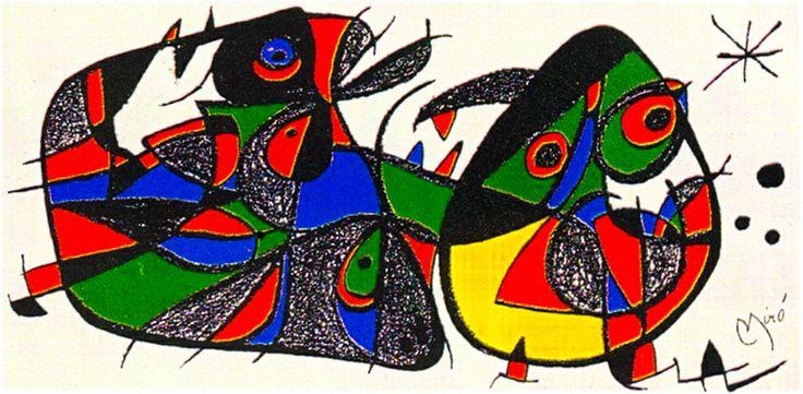 Joan Miro Print - Miro Sculptors - Italy