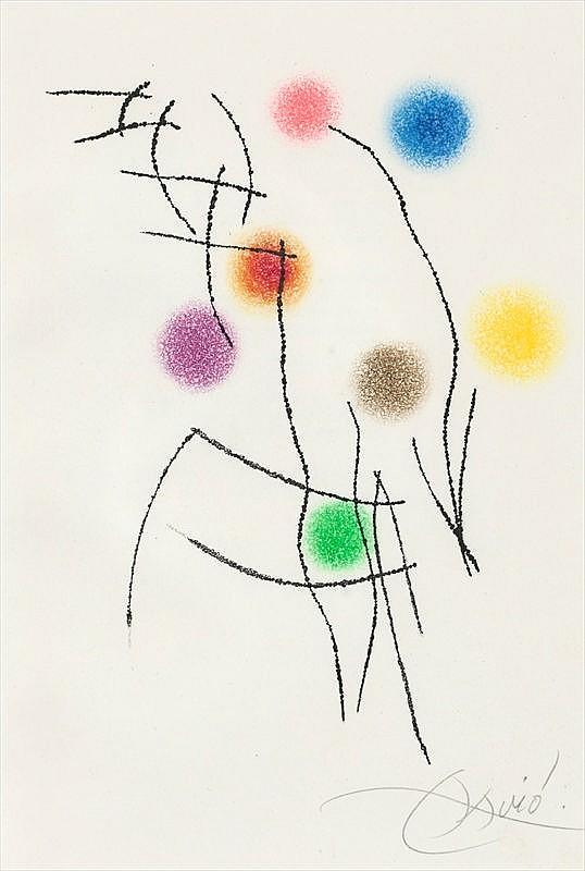 Joan Miro Print - Miranda et la Spirale - Plate #5