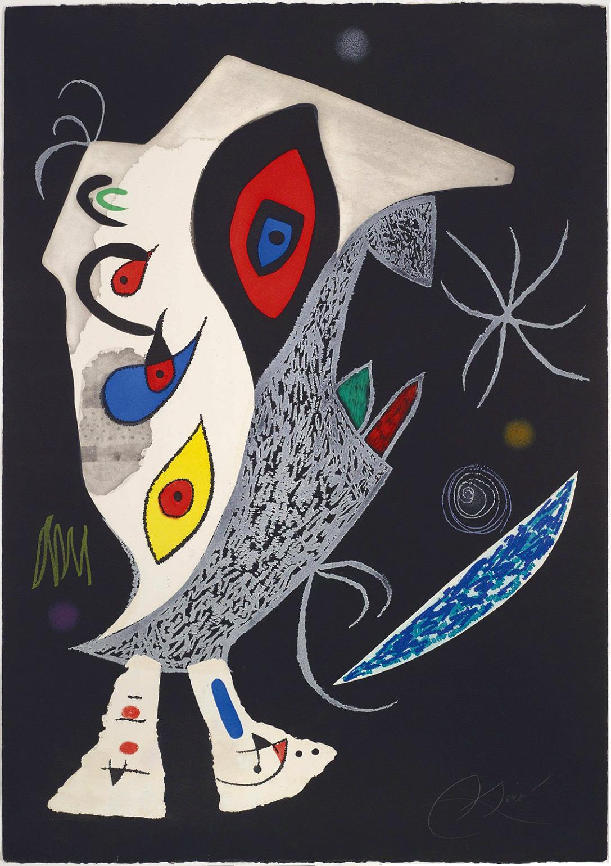 Joan Miro Print - Barbare Dans La Nuit