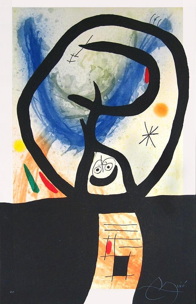 Joan Miro Print - La Fronde