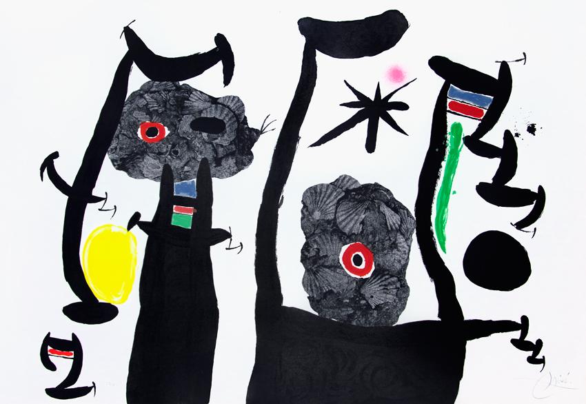 Joan Miro Print - Les Coquillages de Mer