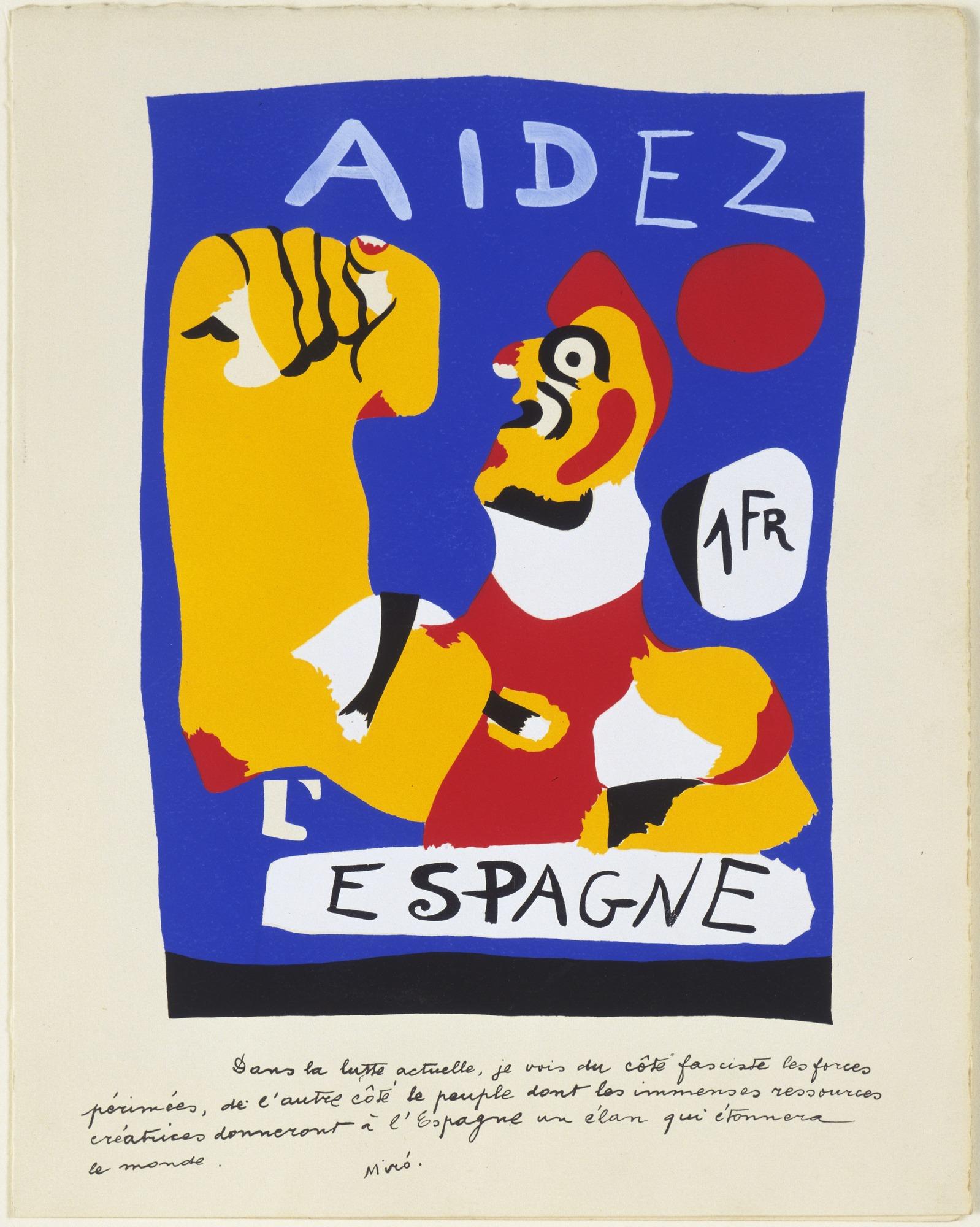 Joan Miro Print - Aidez L
