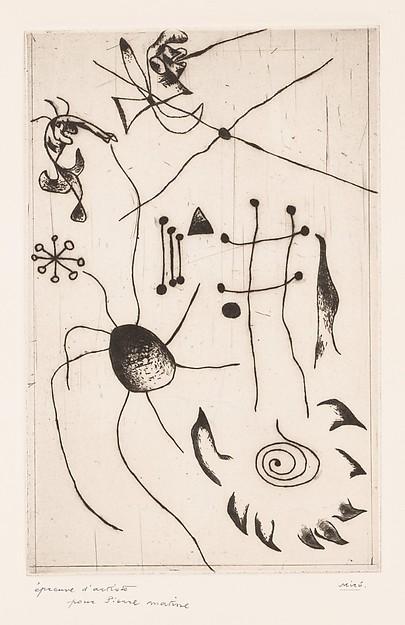 Joan Miro Print - Serie Noire et Rouge - Plate 4