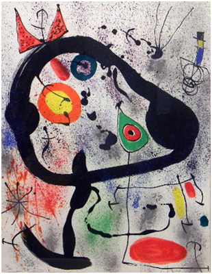 Joan Miro Print - Les Voyants - Plate 2