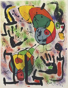 Joan Miro Print - Les Voyants - Plate 3
