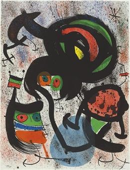 Joan Miro Print - Les Voyants - Plate 4