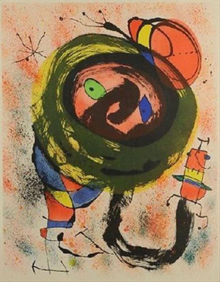 Joan Miro Print - Les Voyants - Plate 5