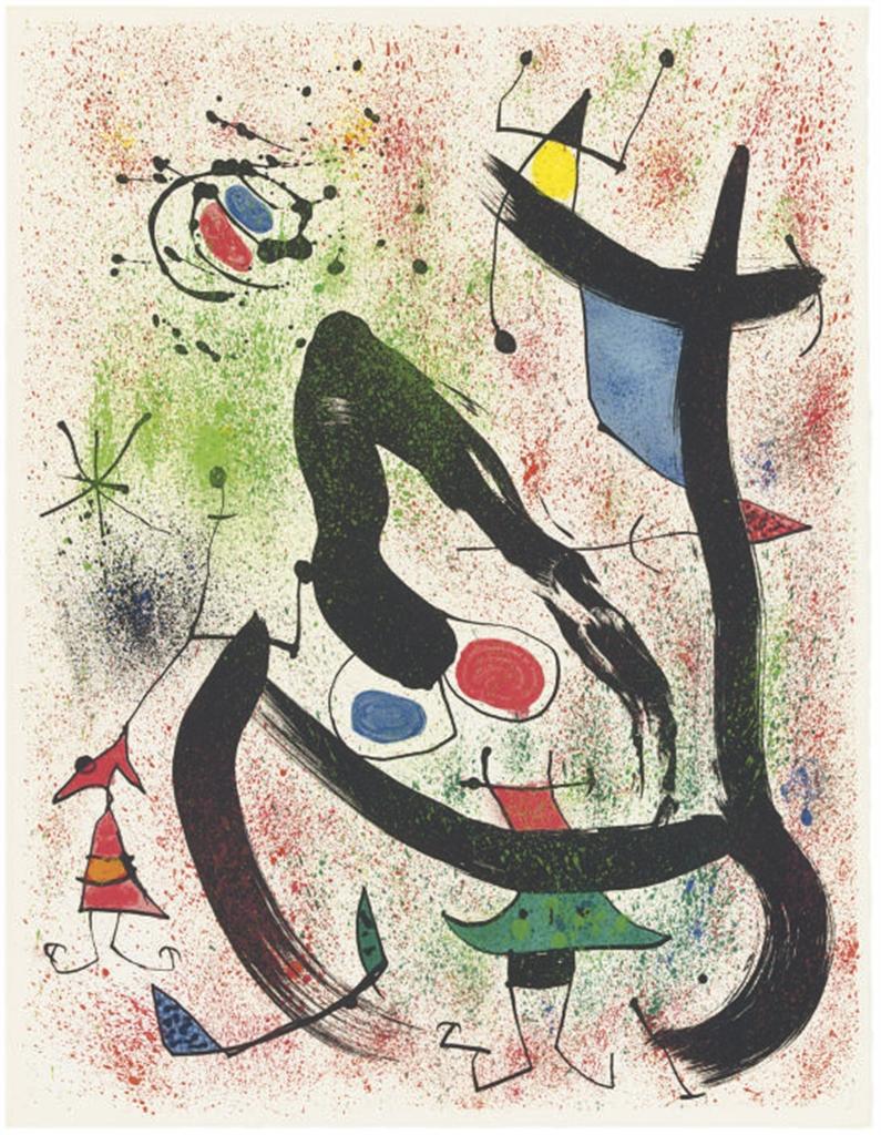 Joan Miro Print - Les Voyants - Plate 6