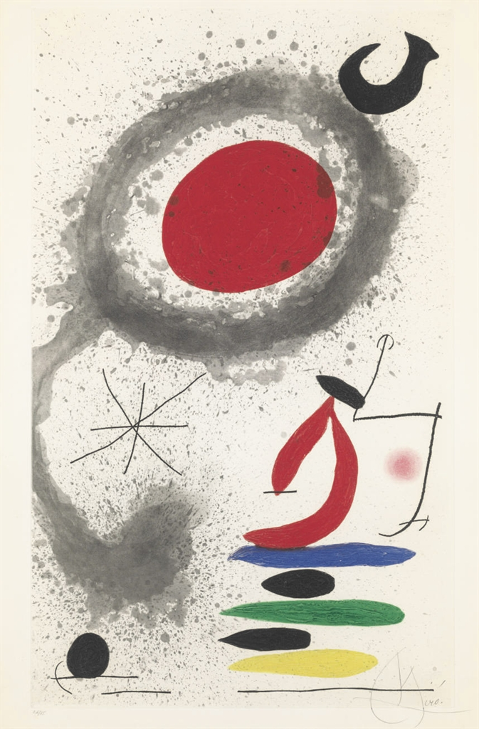 Joan Miro Print - Soleil ébouillanté