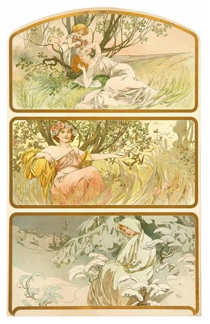 Alphonse Mucha Print - Trois Saisons