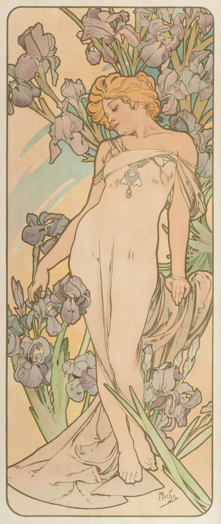 Alphonse Mucha Print - L
