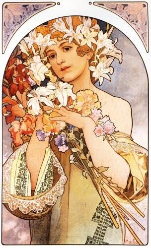 Alphonse Mucha Print - La Fleur