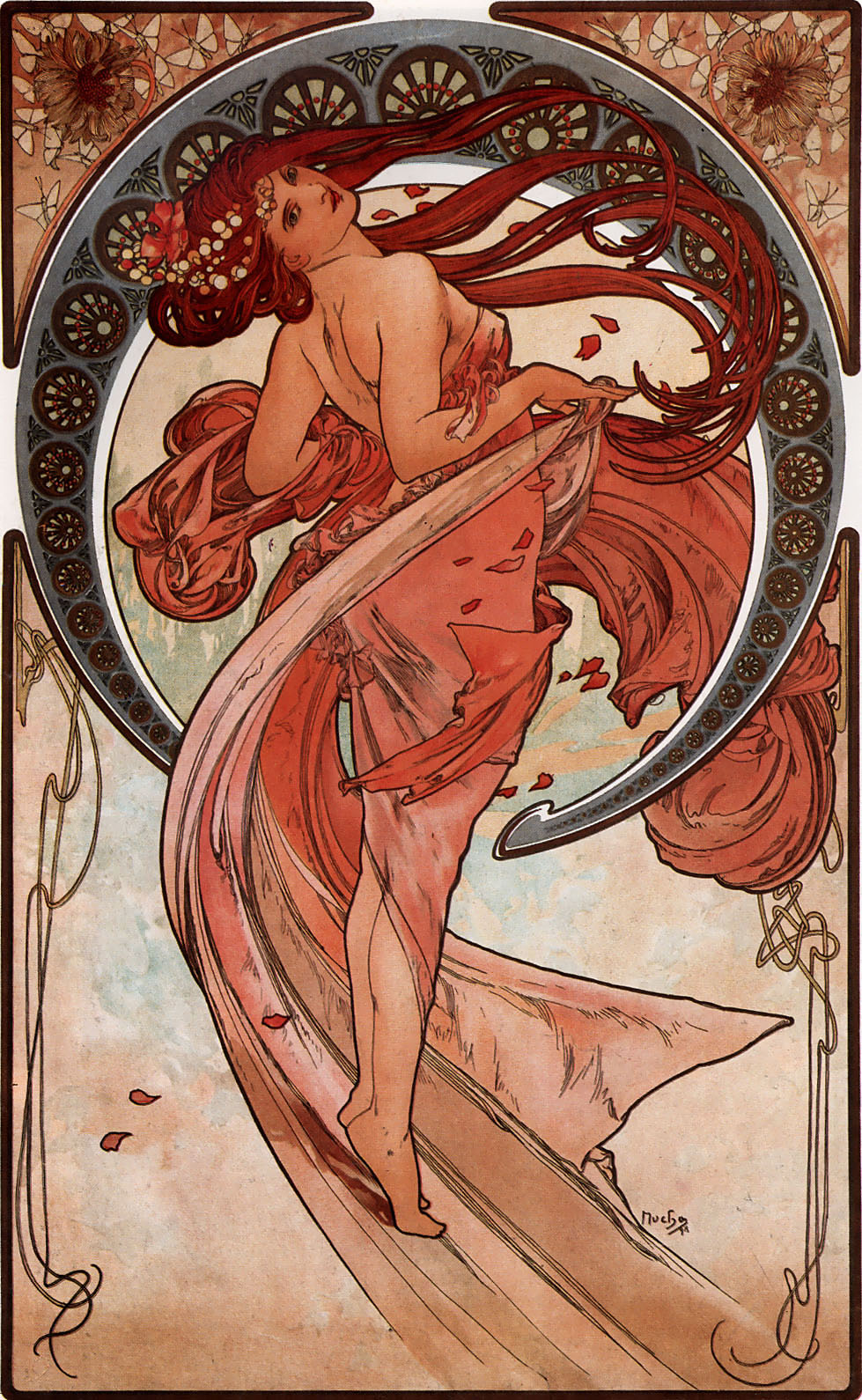 Alphonse Mucha Print - La Danse