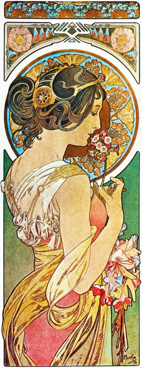 Alphonse Mucha Print - La Primevere