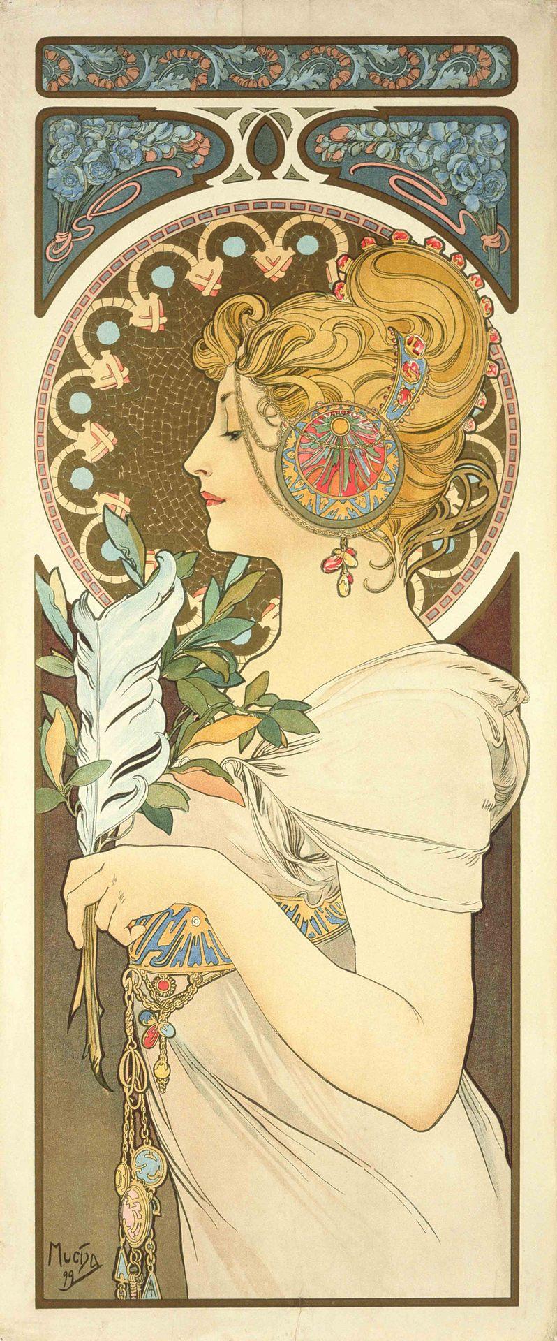 Alphonse Mucha Print - La Plume