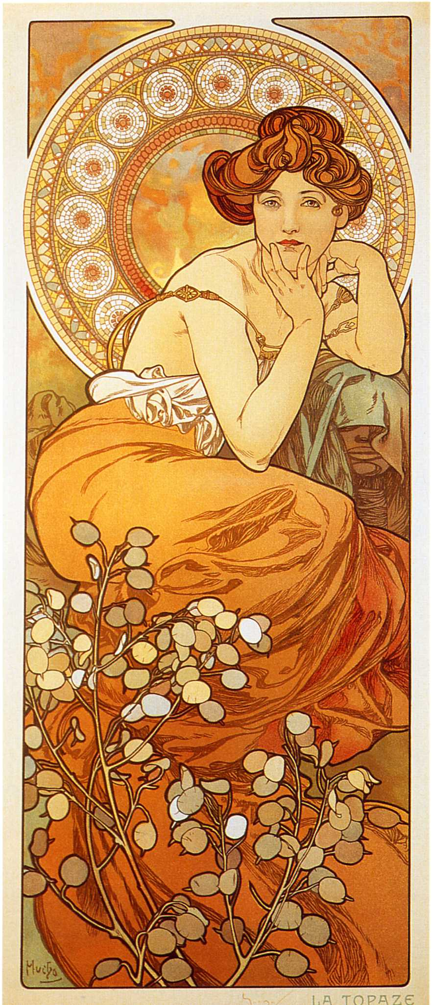 Alphonse Mucha Print - La Topaze