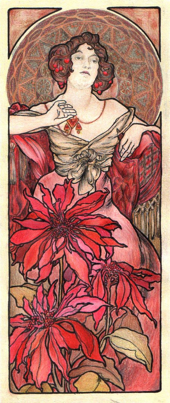 Alphonse Mucha Print - Le Rubis