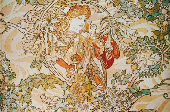 Alphonse Mucha Print - Femme a la Marguerite