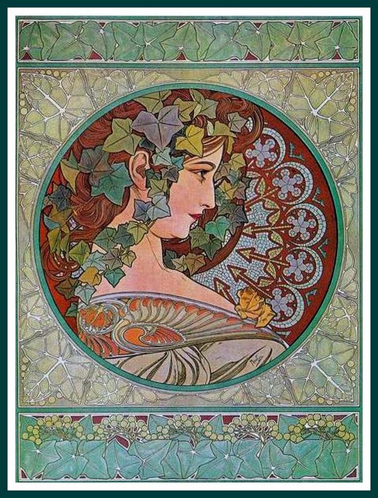 Alphonse Mucha Print - Le Lierre