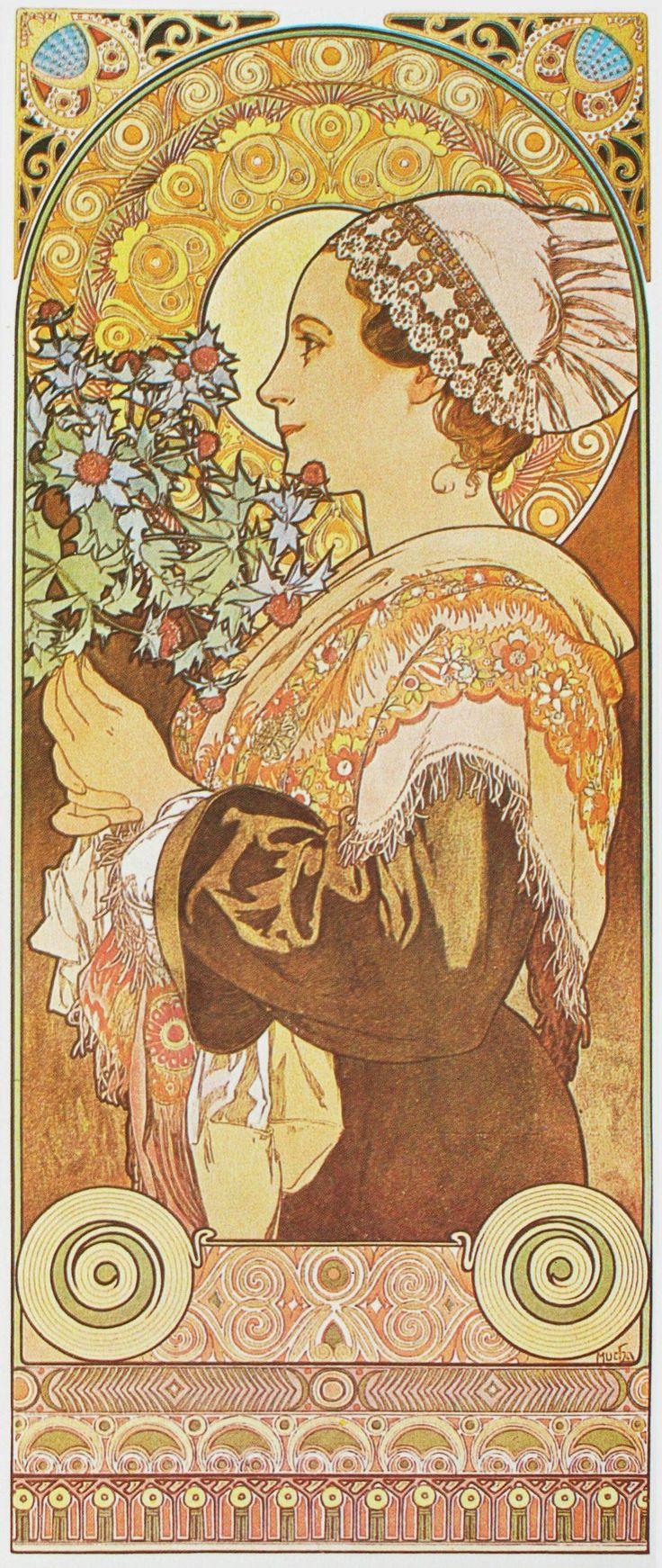 Alphonse Mucha Print - Chardon de Greves
