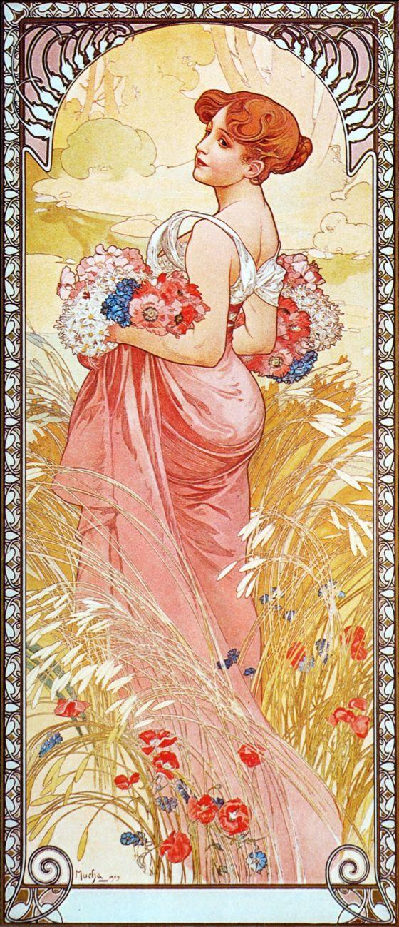 Alphonse Mucha Print - Ete