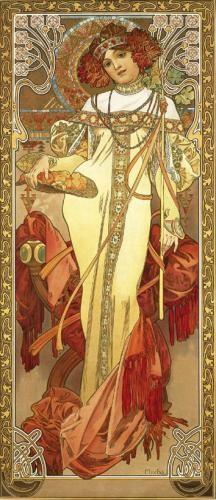 Alphonse Mucha Print - Automne
