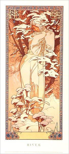 Alphonse Mucha Print - Hiver