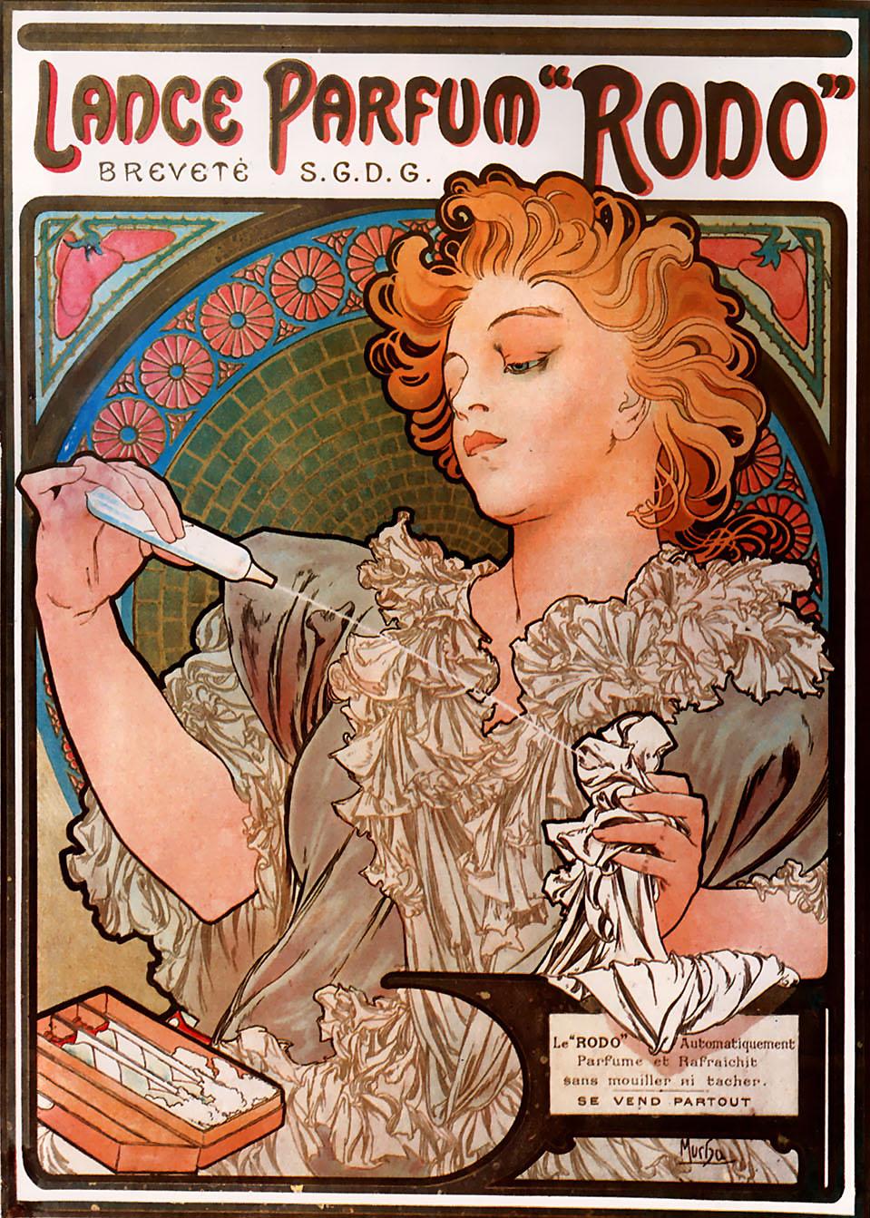 Alphonse Mucha Print - Lance Parfum Rodo