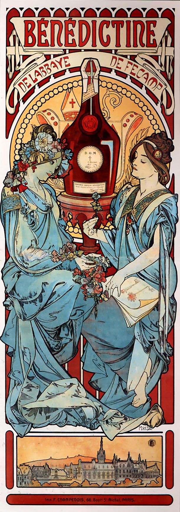 Alphonse Mucha Print - Benedectine