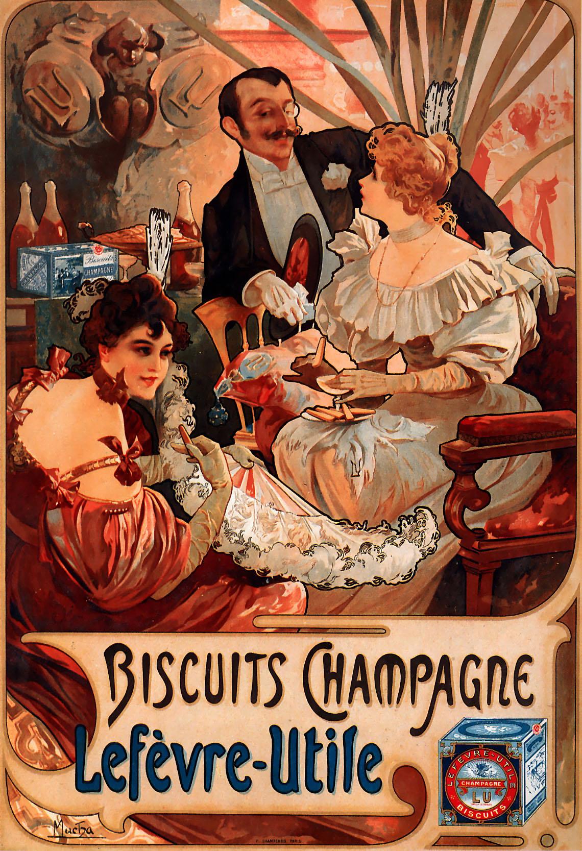 Alphonse Mucha Print - Biscuits Champagne