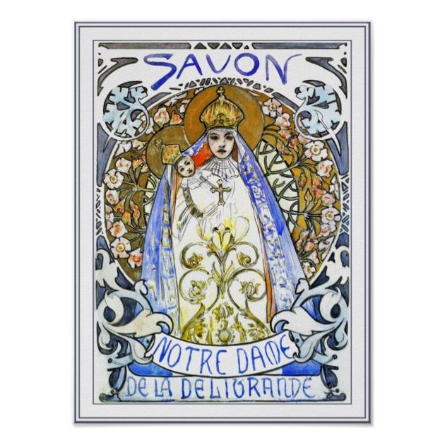 Alphonse Mucha Print - Savon de Notre Dame