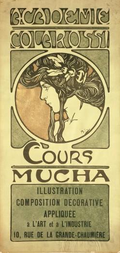 Alphonse Mucha Print - Cours Mucha