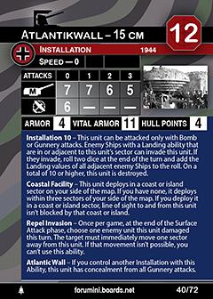 Axis & Allies War at Sea - Atlanktikwall - 15cm