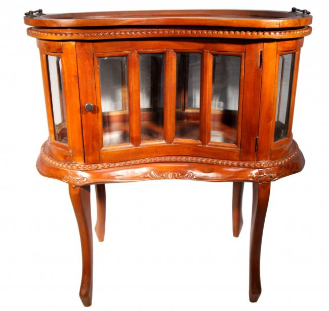 Chippendale Style - Glass Cabinet - Mahogany
