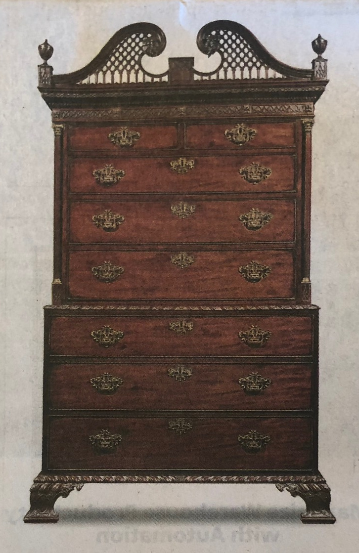 Chippendale Style - 1765 - Chest-on-Chest - Mahogany