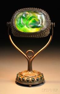 Lamp - Tiffany - Turtleback Swivel Lamp