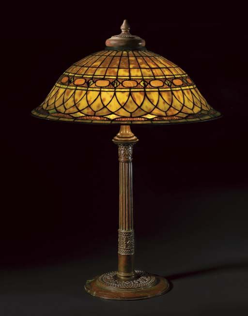 Lamp - Tiffany - Roman Shade
