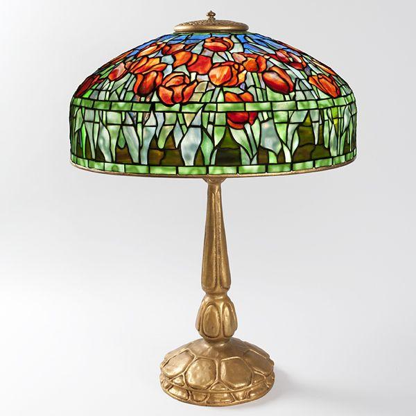 Lamp - Tiffany - Tulip Shade with Apron