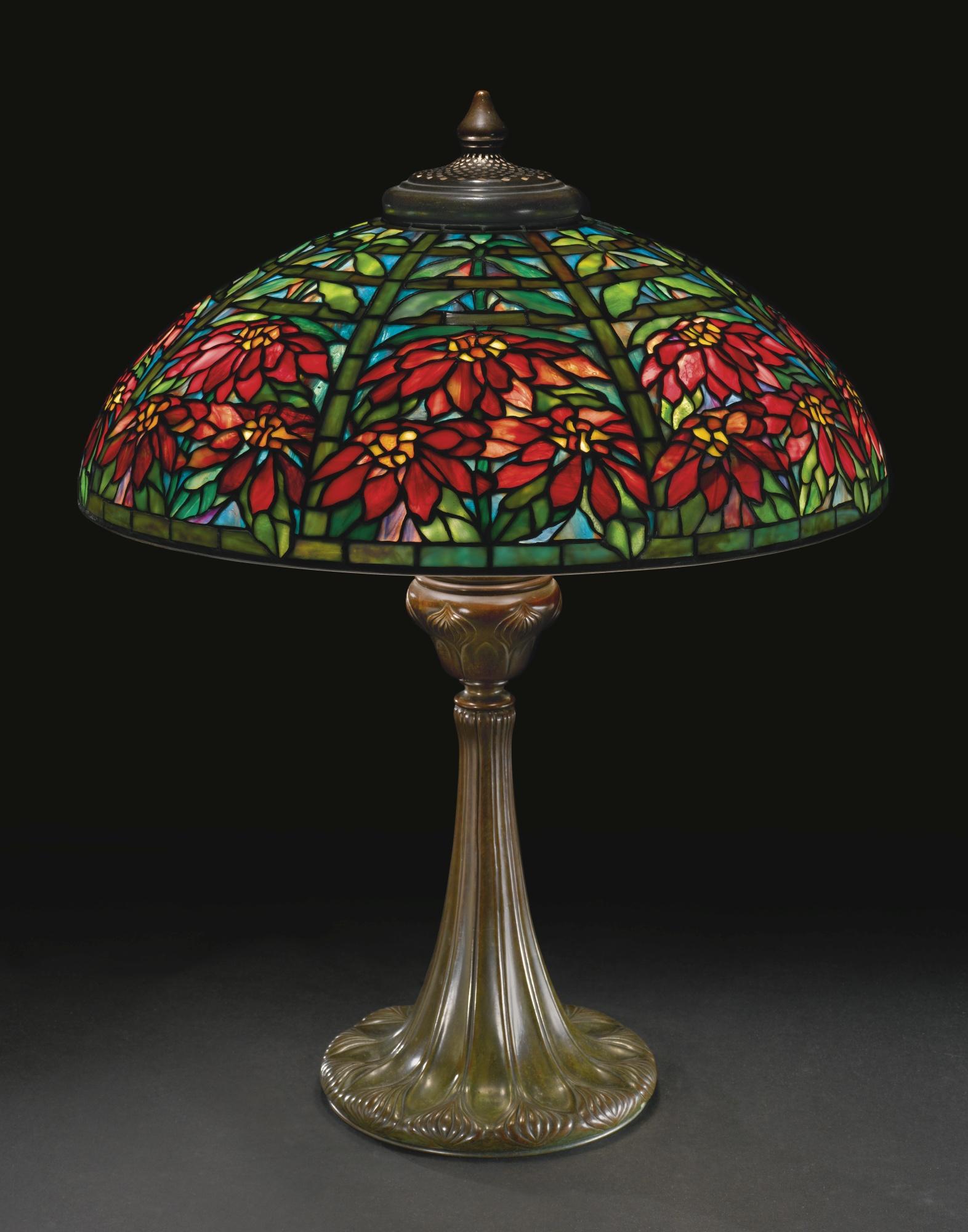 Lamp - Tiffany - Double Poinsettia Shade