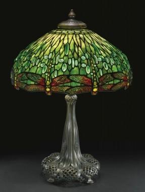 Lamp - Tiffany - Green Hanging Head Dragonfly