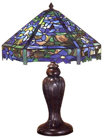 Lamp - Tiffany - Clematis Trellis