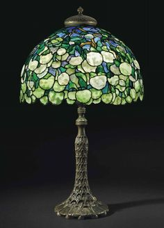 Lamp - Tiffany - Blue Hydrangea Shade