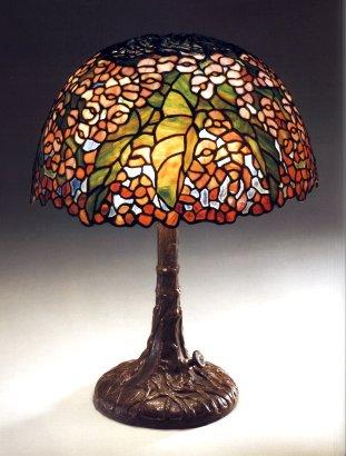 Lamp - Tiffany - Begonia on Gray Shade