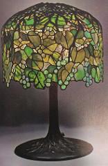Lamp - Tiffany - Pendant Grape Vine Shade