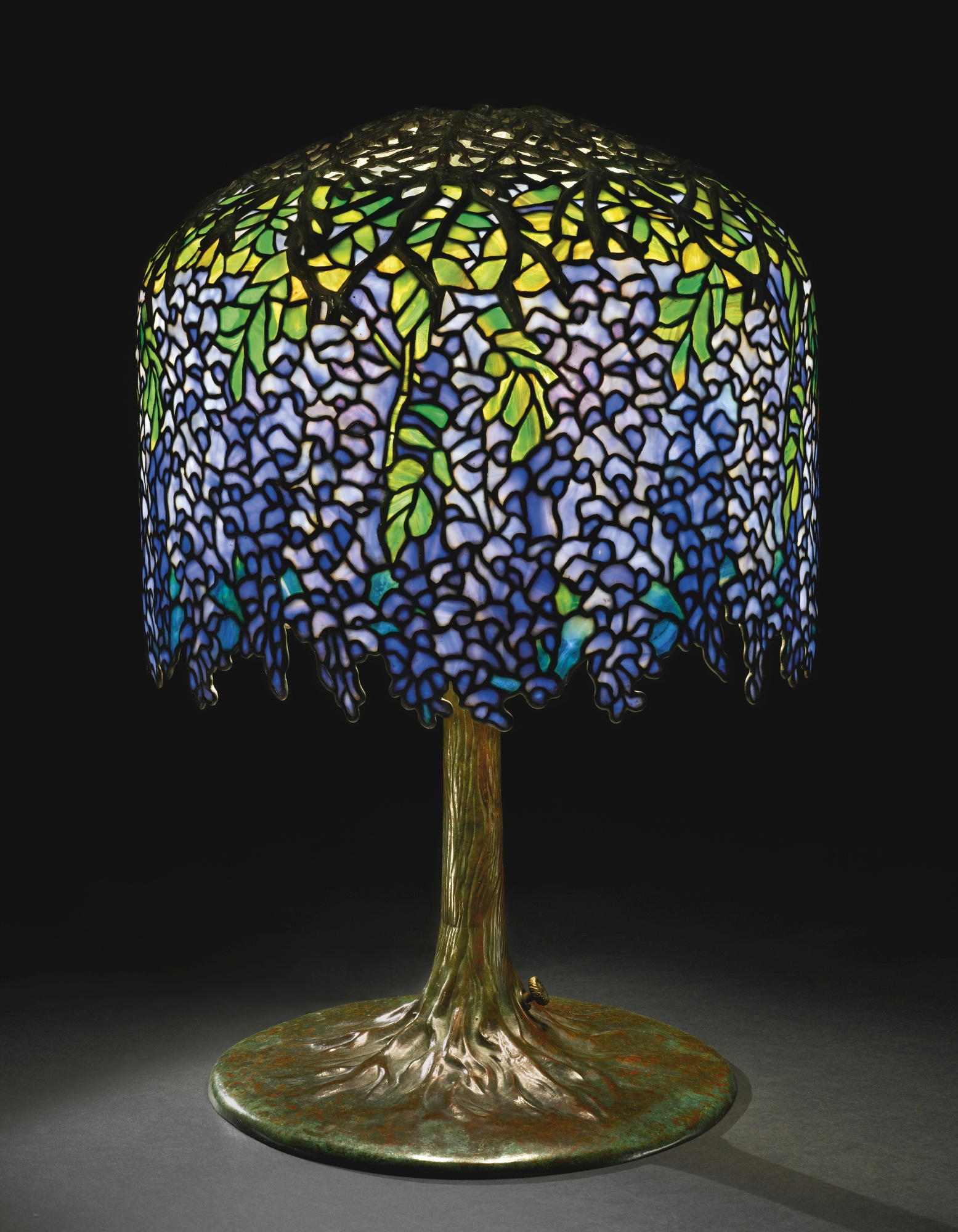 Lamp - Tiffany - Multiple Stage Wisteria Shade