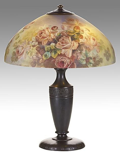 Lamp - Handel - Purple Rose Shade