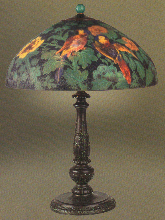 Lamp - Handel - Parrot Shade on Candlestick Base