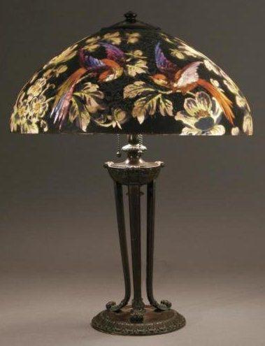 Lamp - Handel - Birds of Paradise Shade on a Tripod Base