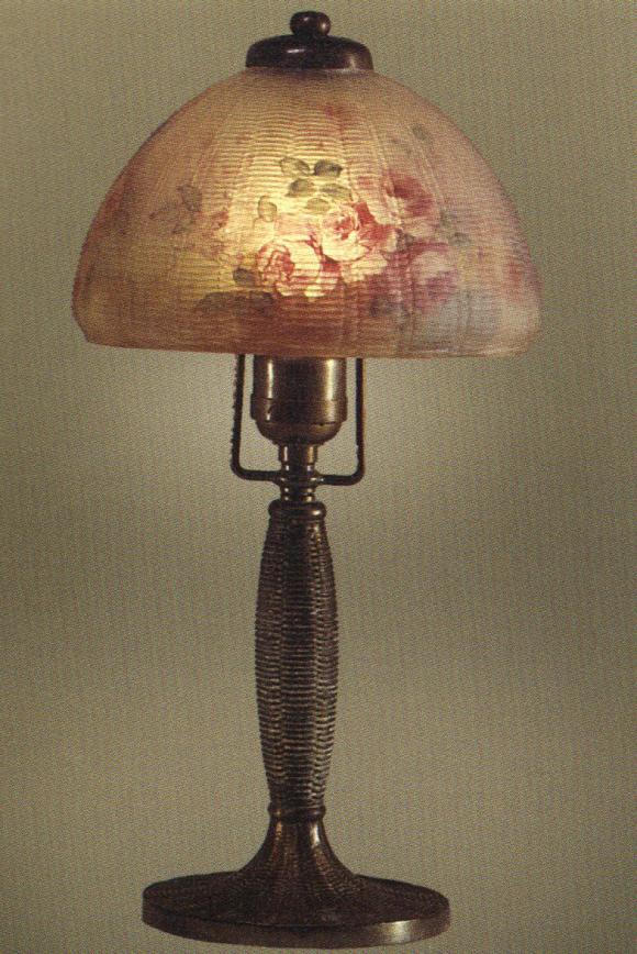 Lamp - Handel - Pink Roses Boudoir Lamp